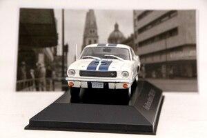 Image 4 - IXO Altaya 1:43 סולם פורד מוסטנג Shelby GT 350H 1965 מכוניות Diecast צעצועי מודלים מהדורה מוגבלת אוסף לבן
