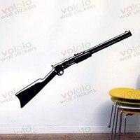 משלוח חינם חומר סיטונאי וקמעוני וול דקור pvc מדבקות קיר מדבקות טפט ציור קיר נשק אקדח s-152