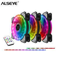 ALSEYE RGB Fan 120mm Kühler 12 v 3pin Computer Fan Dual LED Ring Multicolor Kühlung Fans Fernbedienung Dutzende modi Leise Lüfter