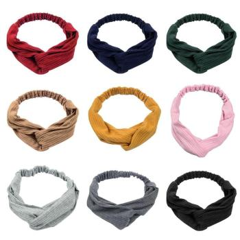 Twist Cross Turban Headband Elastic Hairbands Headwrap Women Girls Headwear