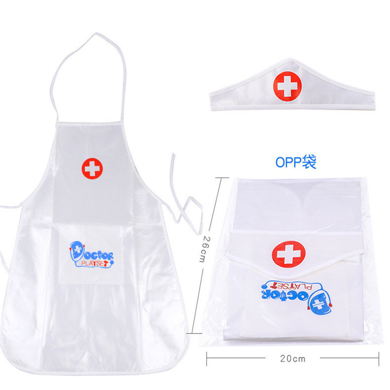 1set New Arrival Children Play Role Play Doctor Clothing Toys Baby Nurse Doctor Performing Small Holiday Gift