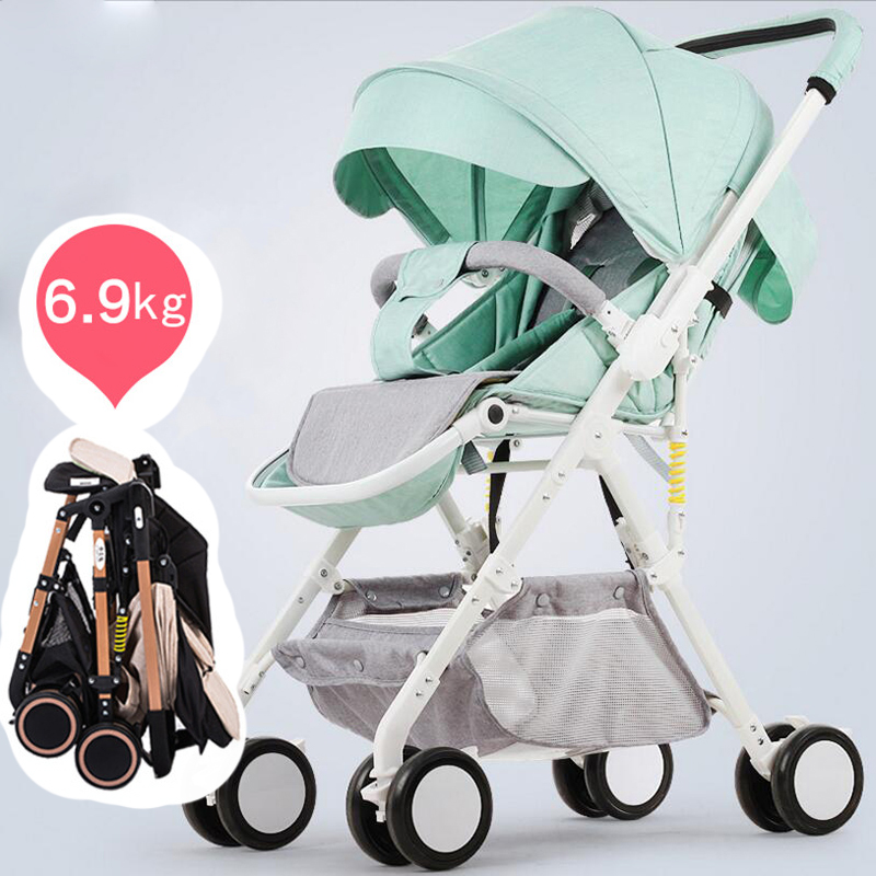 China cheap Lightweight Baby Stroller 6.9KG Folding light can sit and lie Carriage Buggy Pushchair Pram Newborn Infant Car china cheap lightweight baby stroller 5 9kg 7 free gifts folding carriage buggy pushchair pram newborn bb car shipping russia
