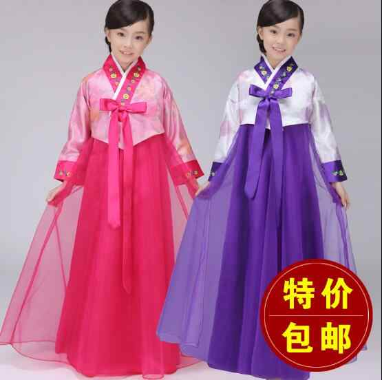 Hanbok הילדה ילדים Hanbok מיעוט תלבושות ריקוד קוריאני בגדי ילדים