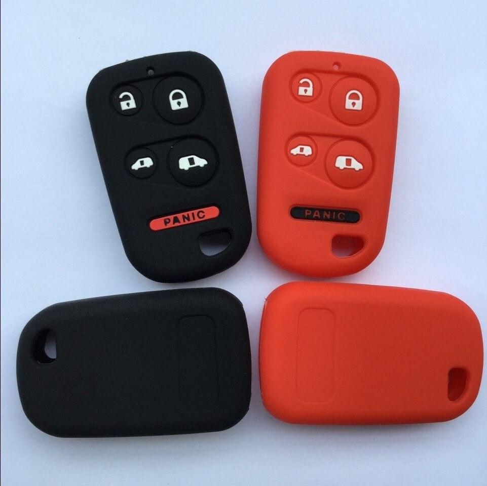Стайлинга автомобилей ключ крышка Shell кремния фунда оставлять для Honda Odyssey мини Ван 5 кнопки ключа автомобиля