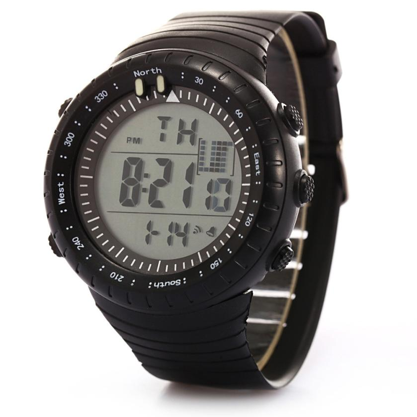 Perfect Gift Fashion Men LED Digital Date Sport Military Rubber Quartz Watch Alarm Waterproof Dec1 sanda date alarm men s army infantry waterproof led digital sports watch gray rubber