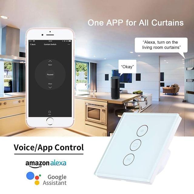 Interruptor inteligente WiFi para persiana enrollable, para cortina eléctrica motorizada, funciona con Alexa y Google Home