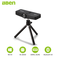 Bben C100 Mini PC Windows10 TV caja Intel Cherry Trail Z8350 Quad Core 2G/32G, 4g/64G 3 Cámara Bluetooth Wifi