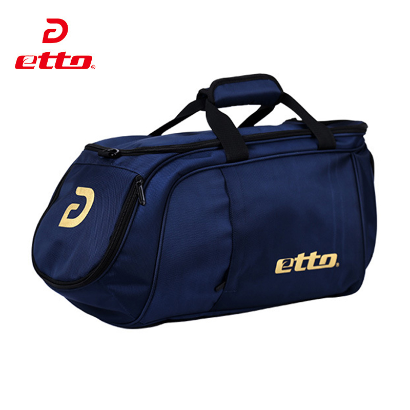 Etto Men Sports Training Bag for Football Team Uniforms and Shoes Nylon Gym Bag for Bodybuilding