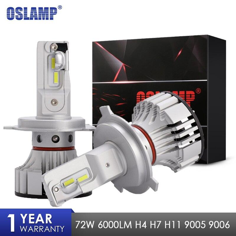 Di Qualità del Hight Oslamp F2 H4 H7 H11 9005 9006 Auto HA CONDOTTO il Faro Lampadine CSP Chip 6000lm 72 w Auto Led lampade Auto Luce 12 v 24 v