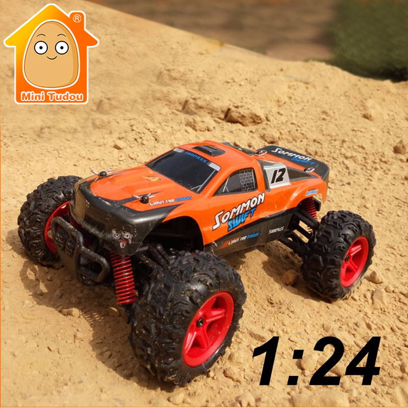 ФОТО MiniTudou 1/24 4WD RC Car 40KM/H+ 2.4G All Wheel Drive Model Car High Speed Remote Controlled Off Road Cars Monster Truck Toys