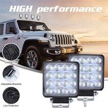 LED Work Light Pods 4 Inch 160W Square Spot Beam Offroad Driving Light Bar 13000LM 6000K Spot Flood LED Light Bar LED Work Light