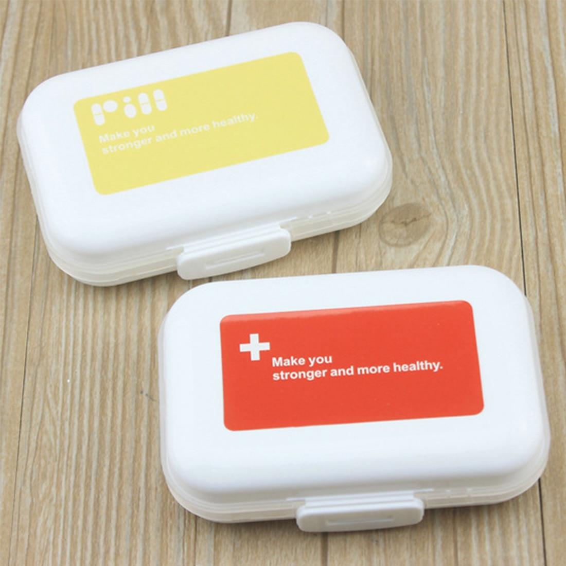 Mini Vitamin Holder Medicine Drug Box Holder Pill Organizer Portable
