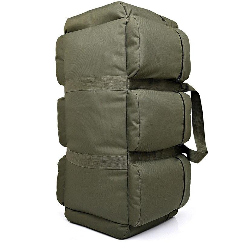Sac à dos tactique militaire pour hommes de grande capacité 90L sac à bandoulière étanche pour bagages à main sac à bandoulière Oxford randonnée Camping sac de voyage - 5