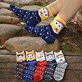 Neve impresso listrado meias mulheres meias engraçadas dos desenhos animados bonito Alpaca inverno warm meias de algodão macio respirável meias soks