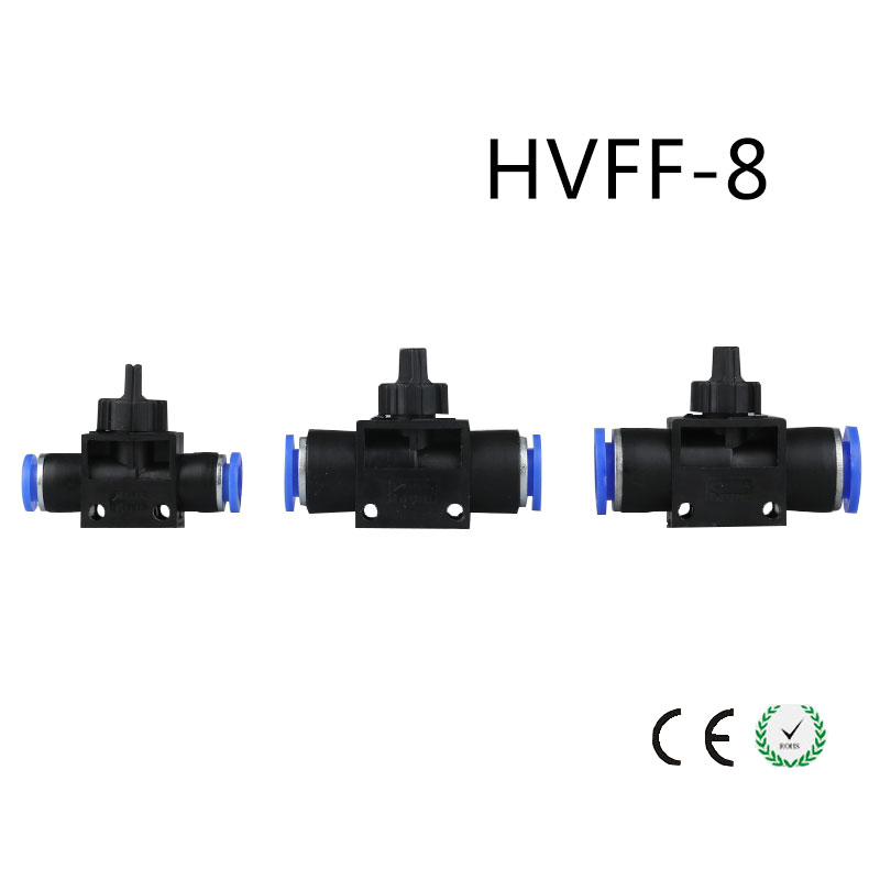 5pcs HVFF-08 Pneumatic Valve Control Hvff 8MM Tube Pipe Hose Quick Connector Hand Valves Plastic Pneumatic Hose Air fitting 5pcs hvff 08 pneumatic valve control hvff 8mm tube pipe hose quick connector hand valves plastic pneumatic hose air fitting