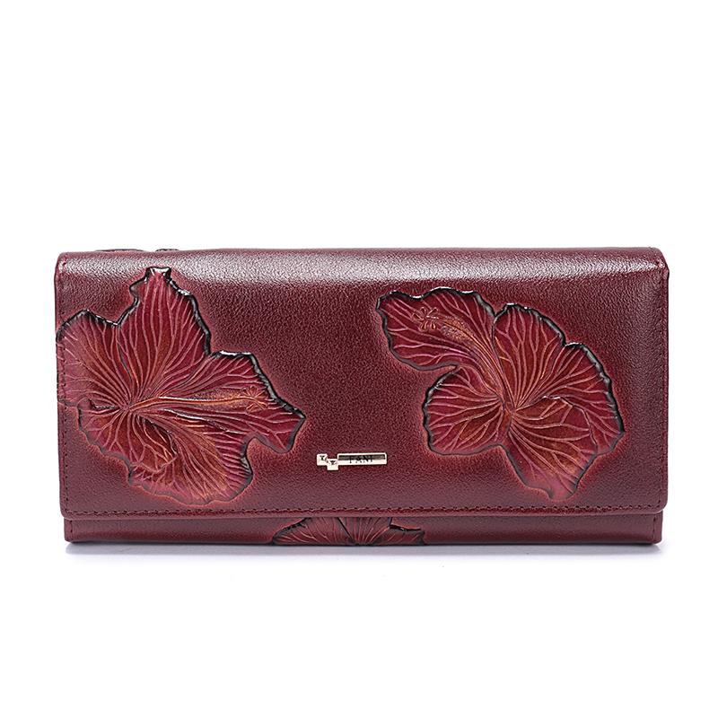 FANI 2018 New Women Wallets Genuine Leather High Quality Lon