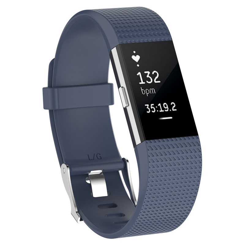 Wristband Wrist Strap Smart Watch Band Strap Soft Watchband Replacement Smartwatch Band For Fitbit blue YURIE2 19