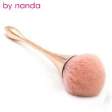 4 color single powder brush rose gold foundation brush soft face beauty tool goblet shaped makeup brushes for foundation make up rose gold powder blush brush professional single soft face make up brush large cosmetics makeup brushes foundation make up tool