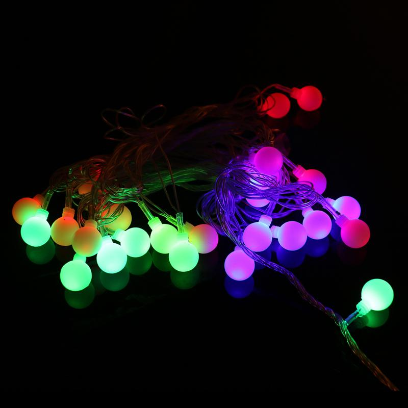 AC 220V 2W 6M Colorful 28 LED String Lights for Xmas Garland Party Wedding Decoration Christmas Flasher Fairy Lights