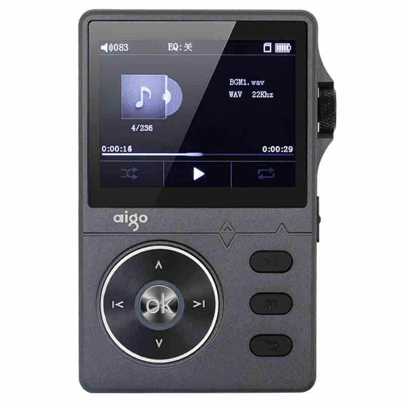 Black color Original Aigo 108 MP3 Player Zinc Alloy HiFi High Quality Sound Lossless Music 2