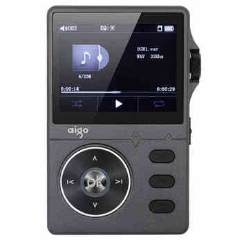 Black color Original Aigo 108 MP3 Player Zinc Alloy HiFi High Quality Sound Lossless Music 2.2 Inches 8GB Universal Player circle