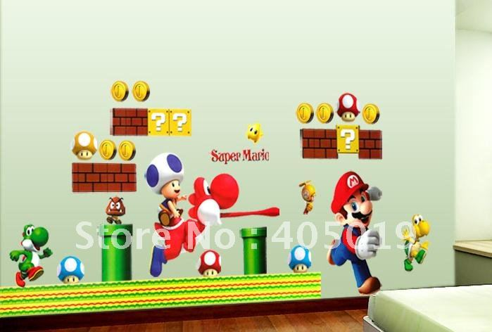 Aliexpress com   Buy Cute 53x93cm  21 x37   SPC071 Super Mario Cartoon Kids  Sticker Murals Wall Wallpaper Mixable Cling Free Shipping Resell Packing  from. Aliexpress com   Buy Cute 53x93cm  21 x37   SPC071 Super Mario