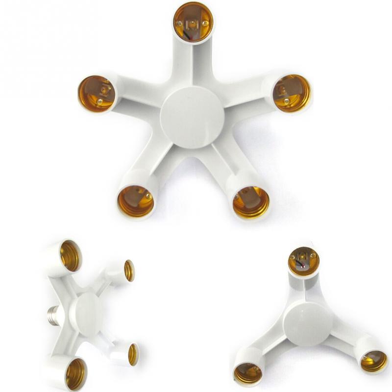 New 1 To 3 Lamp Holder Converters E27 To E27 Base Socket Splitter LED Light Lamp Bulb Adapter Holders