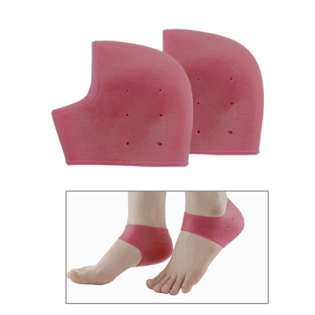 1Pair Foot Skin Care Protectors Silicone Moisturizing Gel Heel Socks Anti-slip Maintenance Cracked Foot Massage C1040