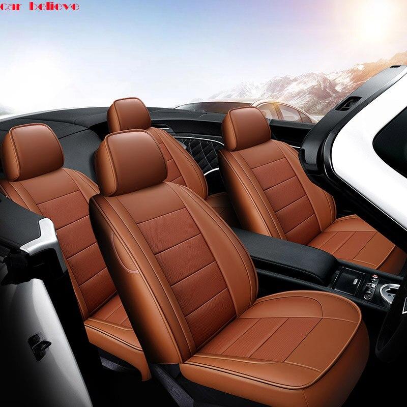 Car Believe Auto automobiles leather car seat cover For Hyundai ix35 tucson solaris creta i30 accent elantra car accessories