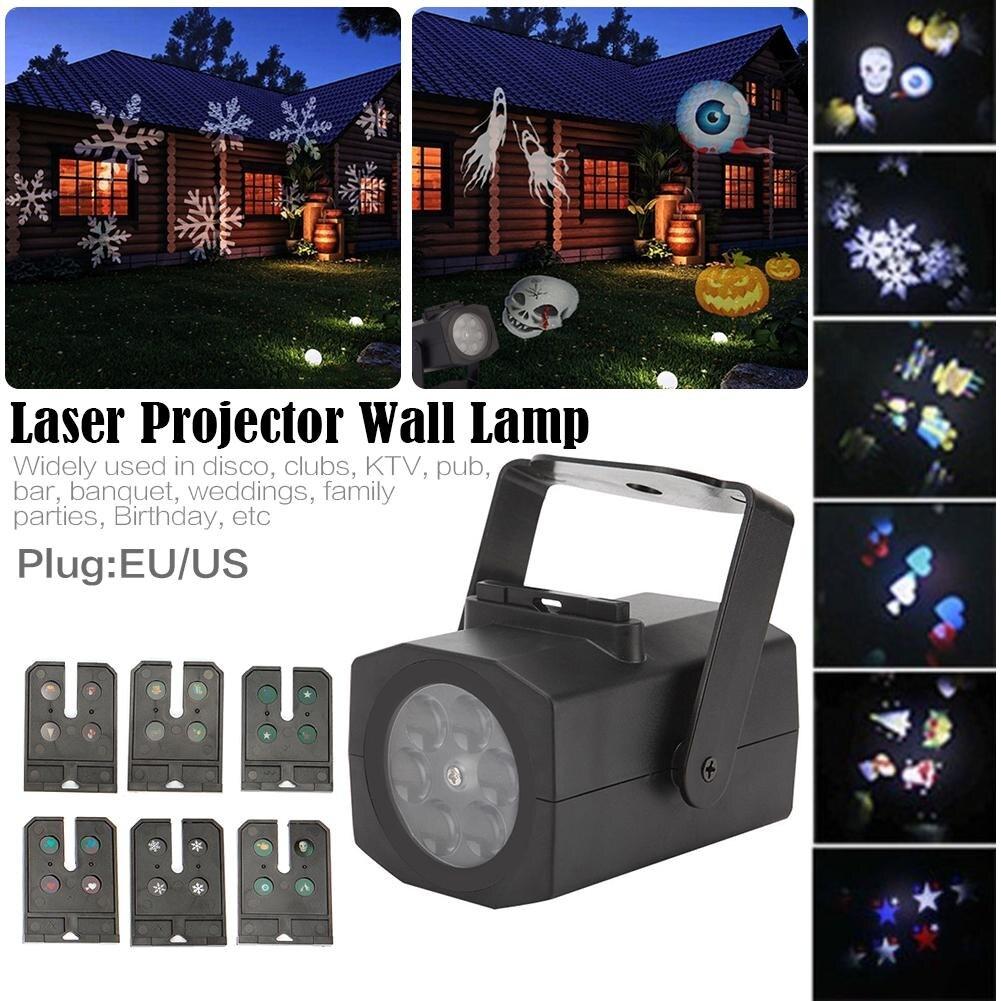 6 modus Muster Schneeflocke Licht Outdoor LED Landschaft Film Licht ...