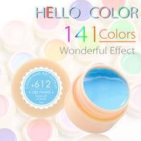 CANNI 140 Color Gel Paint Solid Pure Glitter UV Soak Off Gel Builder Gel Nail Art False Full French Tips Salon Chic 554-572