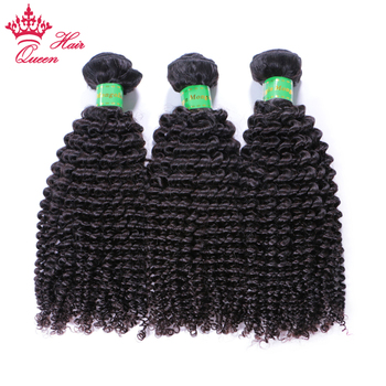 Queen Hair Mongolian Afro Kinky Curly Hair Extensions 100% Human Hair Weave Bundles 3pcs/lot Remy Hair Extensions Double Weft