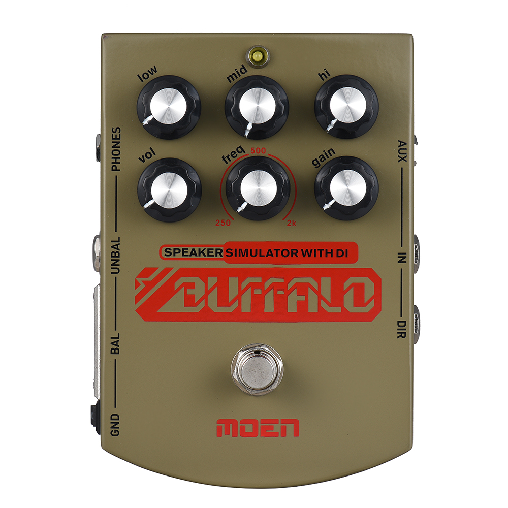 Moen MO BA Buffalo Equalizer Effect Pedal Speaker simulator with DI Headphone Ourputs True Bypass for Electric Guitar-in Guitar Parts & Accessories from Sports & Entertainment    1