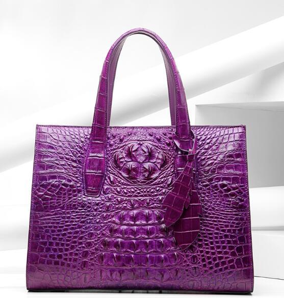 Сумка из крокодиловой кожи с кожаной сумочкой женская сумка