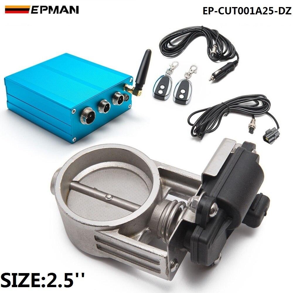 2.5/63mm Vacuum Exhaust Cutout Electric Control Valve Kit With Vacuum Pump EP-CUT001A25-DZ vr racing 3 76mm vacuum exhaust cutout electric control valve kit with vacuum pump 2 sets vr ecv23