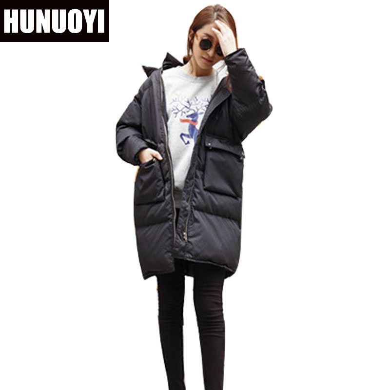 Fashion European Winter Jacket Women Big Fur Collar Hooded Coat Female Medium-long Down Parka Outwear Loose Overcoat HN156 fashion european winter jacket women big fur collar hooded coat female medium long down parka outwear loose overcoat hn156