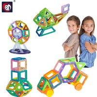 BD 184 개 자기 디자이너 창조주 3D DIY 빌딩 블록 벽돌 교육 자기 블록 Juguetes 어린이 장난감 선물