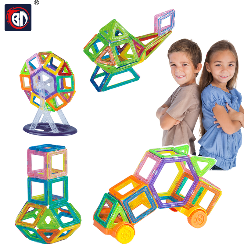 BD 184pcs Magnetic Designer Creator 3D DIY Building Blocks Bricks Educational Magnetic Blocks Juguetes Toys For