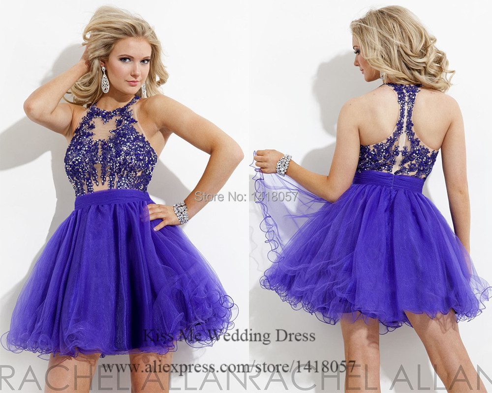 4ae155a5db091 Modest Short Homecoming Dresses Purple Green Lace Cocktail Dress 2015  Corset Homecoming Suits Sexy Plus Size Club Dresses C627