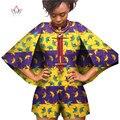 Пользовательские Традиционных Dashiki Африканская Одежда Женщины Комбинезоны Женщины Комбинезоны Труба Рукава Плюс Размер Женщин Одежда 6XL WY393