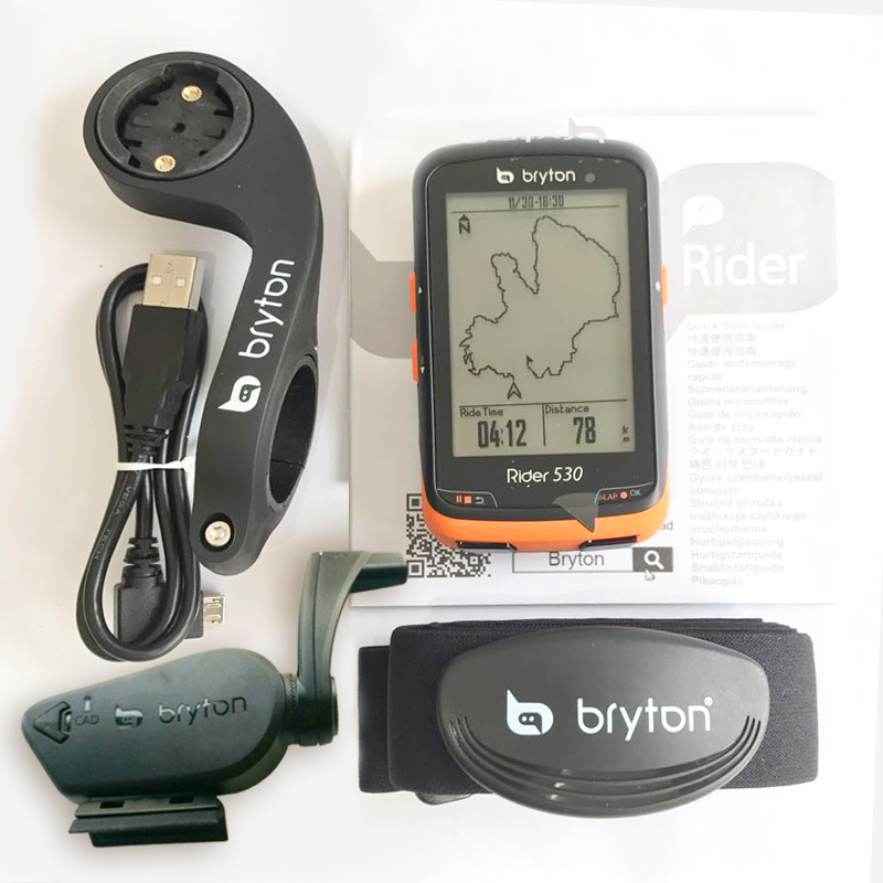 Bryton R530T/ GPS Bicycle Bike Cycling Computer & Extension Mount with ANT+ Speed Cadence Dual Sensor имп имп 530 40x8 r