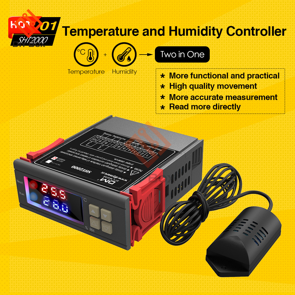 SHT2000 Thermostat Temperature Humidity Control Thermometer Hygrometer Humidista Controller AC 110V 85-230V 10A Digital Display diffuseur arrière carbone bmw x4 f26