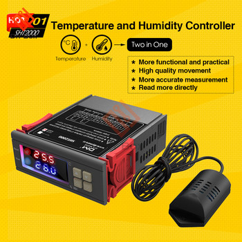 SHT2000 Thermostat Temperature Humidity Control Thermometer Hygrometer Humidista Controller AC 110V 85-230V 10A Digital Display sht2000 thermostat temperature humidity control thermometer hygrometer humidista controller ac 110v 85 230v 10a digital display