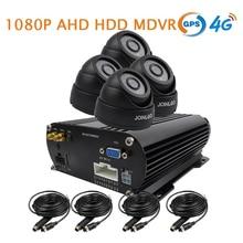 Бесплатная доставка 4 канала GPS 4 г 1080 P AHD 2 ТБ HDD жесткий диск Автомобиль SD DVR MDVR видео регистраторы в реальном времени Мониторы в автомобиль купол Камера