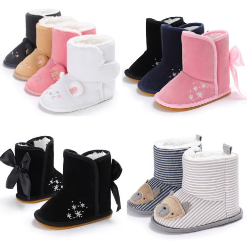 Winter Toddler Newborn Baby Boy Girl Warm Snow Boots Infant Soft Sole Slipper Crib Shoes Cute Animal Baby Boots Prewalker baby girl prewalker shoes infant girl mikey sneakers mouse flower pink soft sole pram shoes sapato infantil menina zapatos bebes