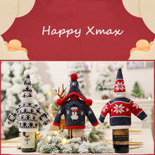 Christmas Wine Bottle Cover Family Friends Gift Bags Bag Holiday Santa Set  Decor(China) 53bc1ca6a1c6e