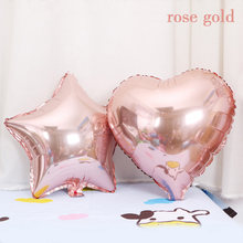 1 Pcs 18 inch Star Heart Baby Shower Pink White Helium Foil Balloons Girls Happy Birthday Party Supplies 1st Party Decoration(China)