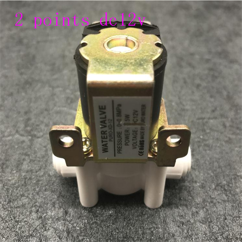 Water Purifier DC12V Inlet Solenoid Valve Quick Connector Copper Core Coffee