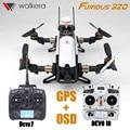 Devo 7 transmitter walkera furious 320 2.4g 7ch rc helicopter rtf Drone Con Cámara OSD GPS PPC Modular VS Corredor 250 Envío nave