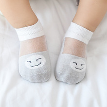 3 pairs of new summer mesh thin cotton baby socks boneless loose mouth short boat children